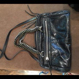 Pour La Victoire Black Leather Crossbody
